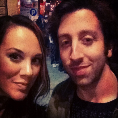 My selfie with Simon Helberg a.k.a. Howard Wolowitz of The Big Bang Theory