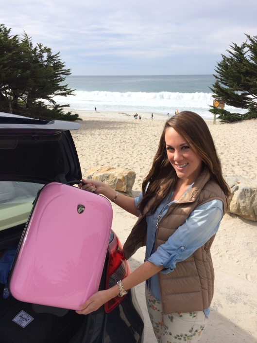 Heys Xcase carry-on in Pink from Arrive Chic