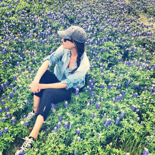 pic in the Texas bluebonnets