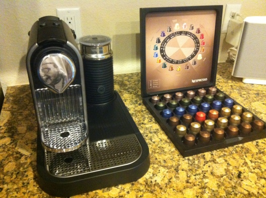Nespresso espresso machine from Williams Sonoma