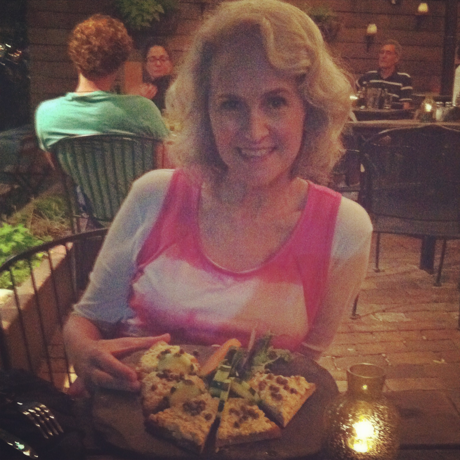 My mom in Lands' End Performance top