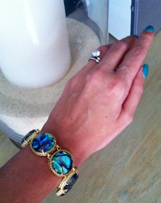 My birthday present:  the Ailee Link Bracelet from Kendra Scott's Atlantic Collection