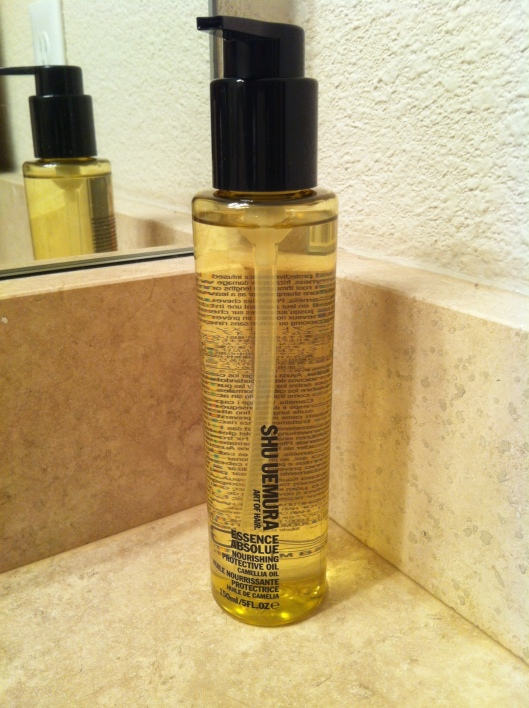 A little something indulgent for my hair:  Shu Uemura's Essence Absolue