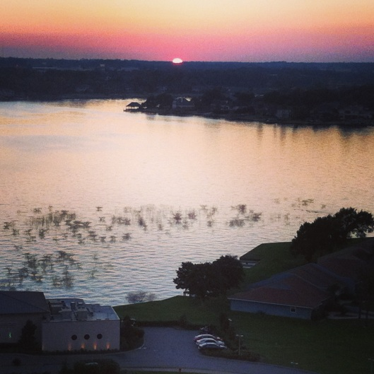 Sunset at La Torretta Lake Resort & Spa