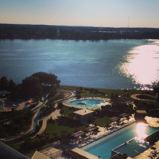 View from the Lake View Suites at La Torretta Lake Resort & Spa