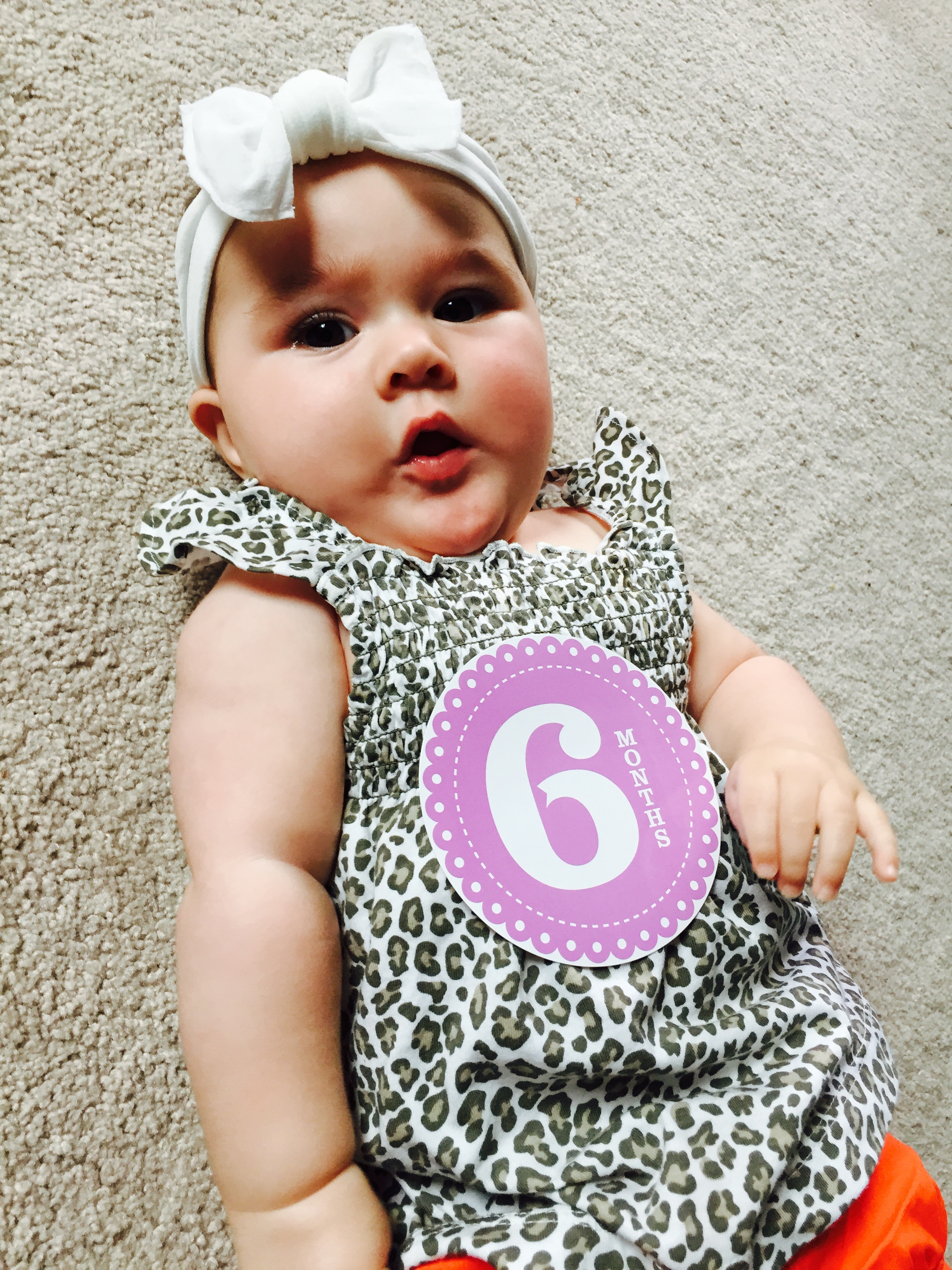 to my baby girl on her 6 month birthday a first time mom s