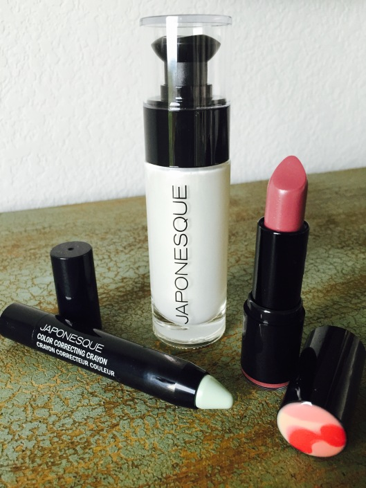 Japonesque Pro Performance Lipstick, Color Correcting Crayon, and Radiance Primer