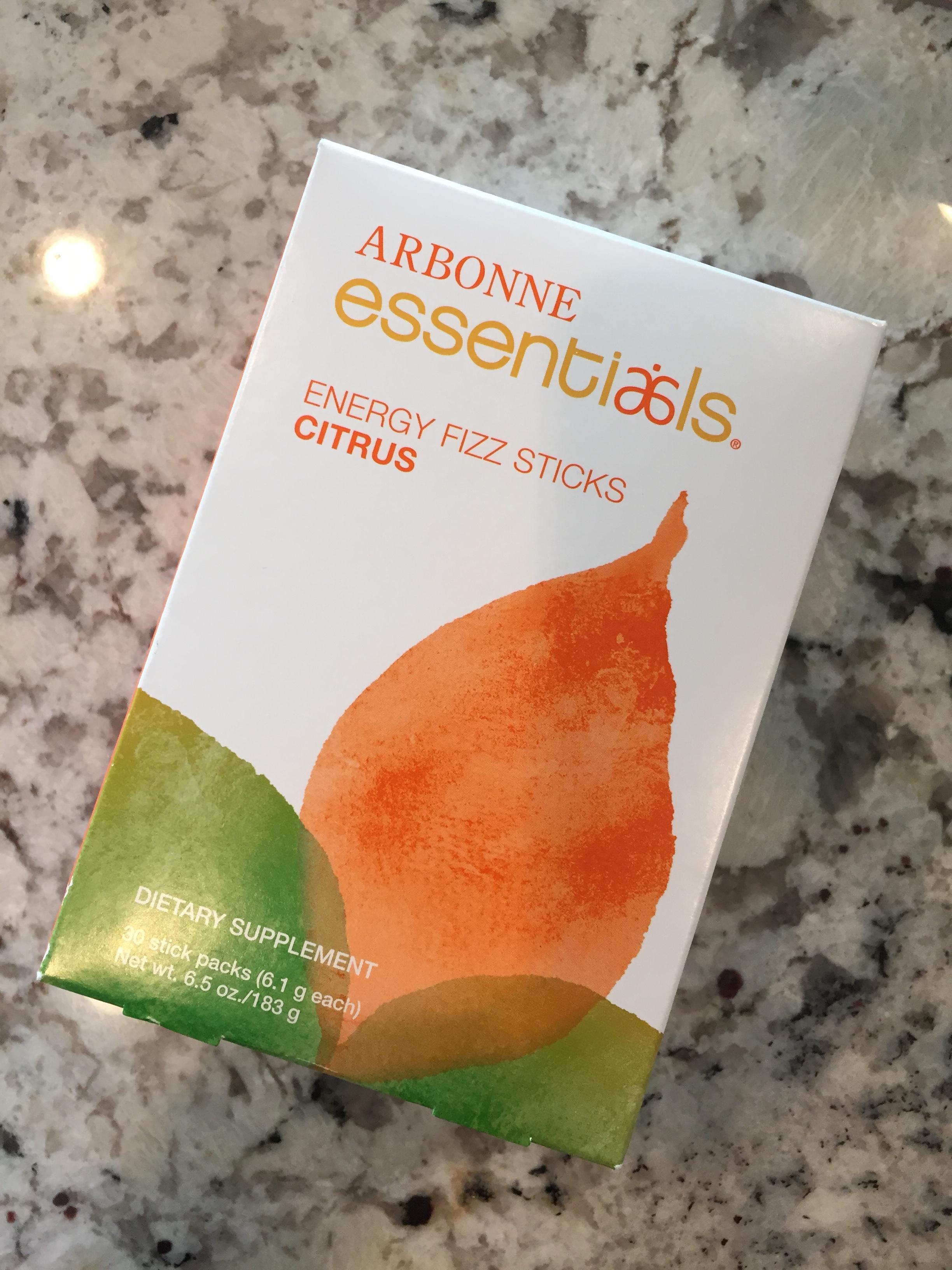 Arbonne Essentials energy fizz sticks