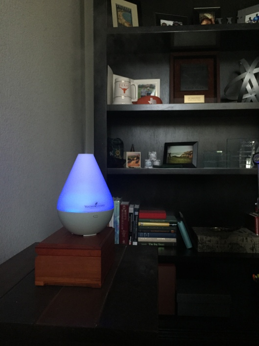 Young Living Dew Drop Diffuser in action