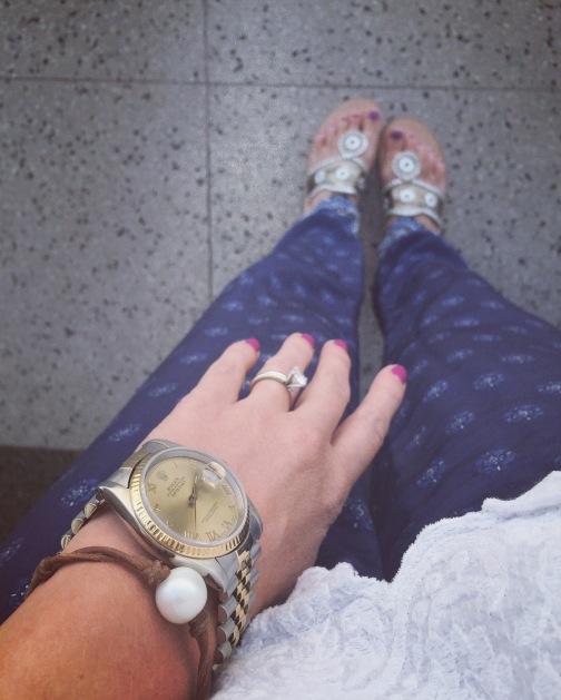 Pearl bracelet airport